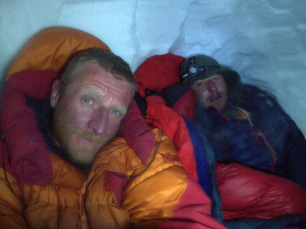 Tomasz Mackiewicz i Marek Klonowski w górach
