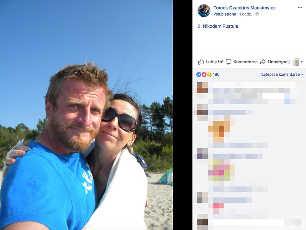 Tomasz Mackiewicz z żoną