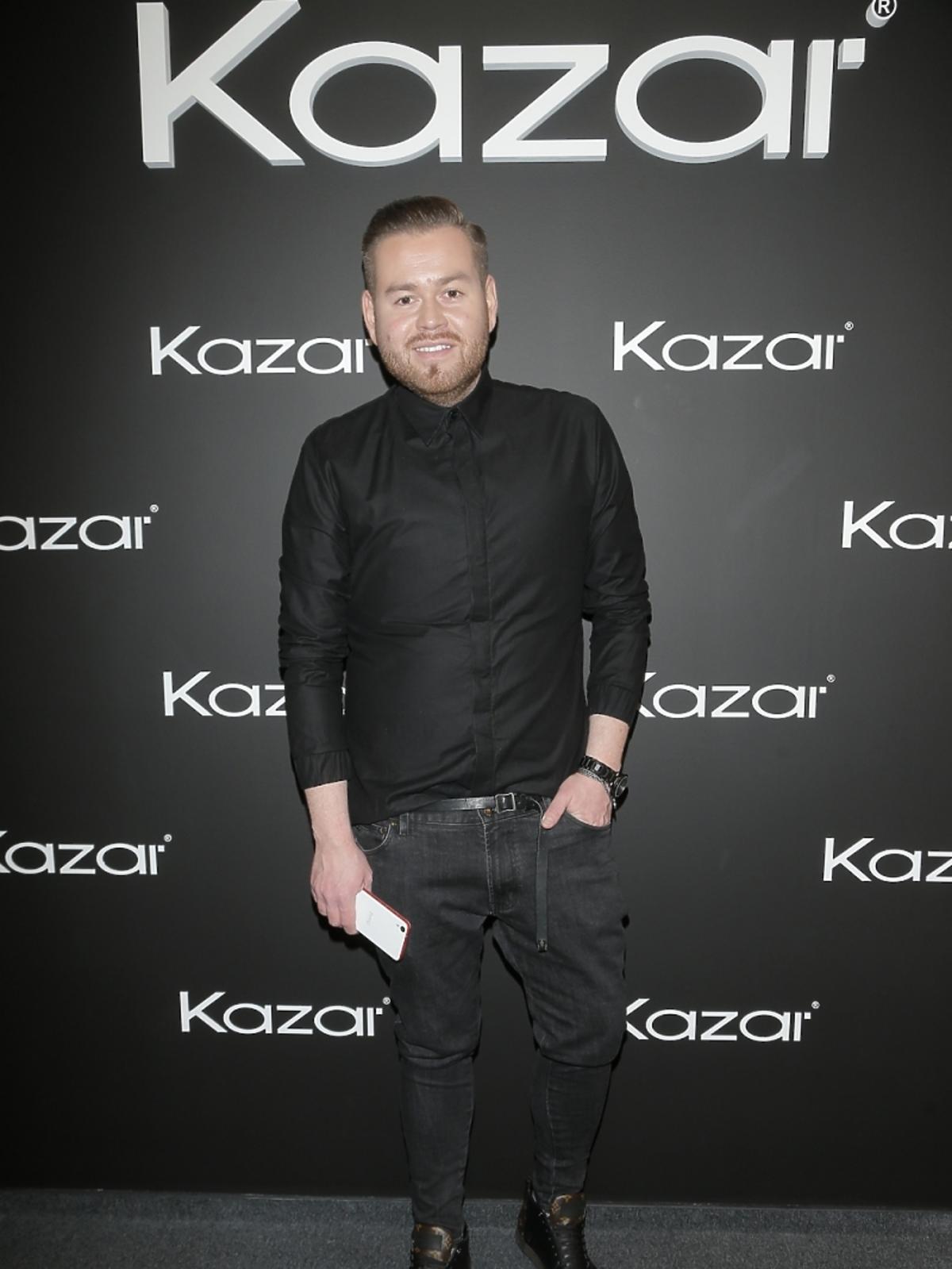 Tomasz Olejniczak na premierze kolekcji Kazar