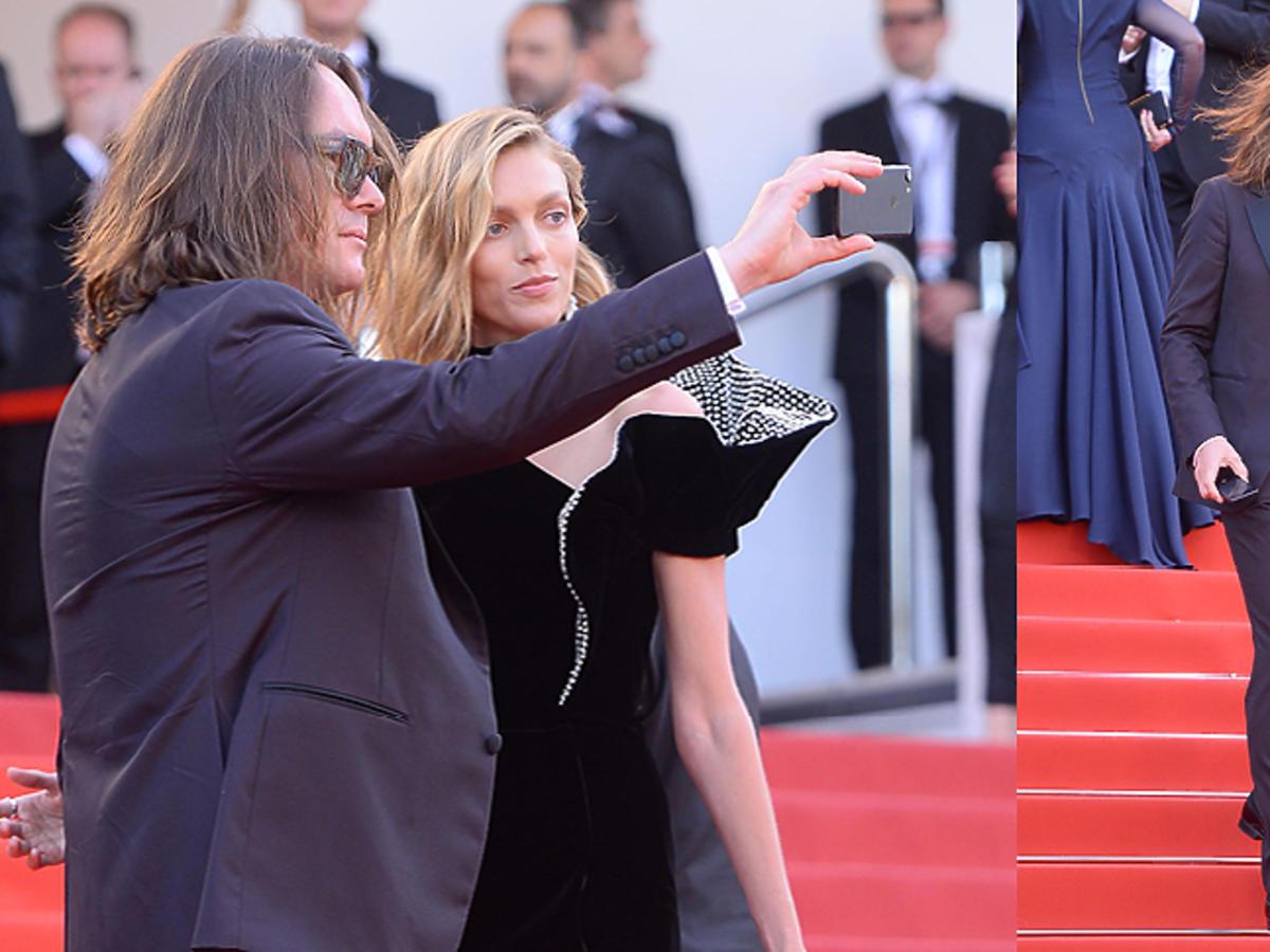 Tomasz Ossoliński i Anja Rubik w Cannes