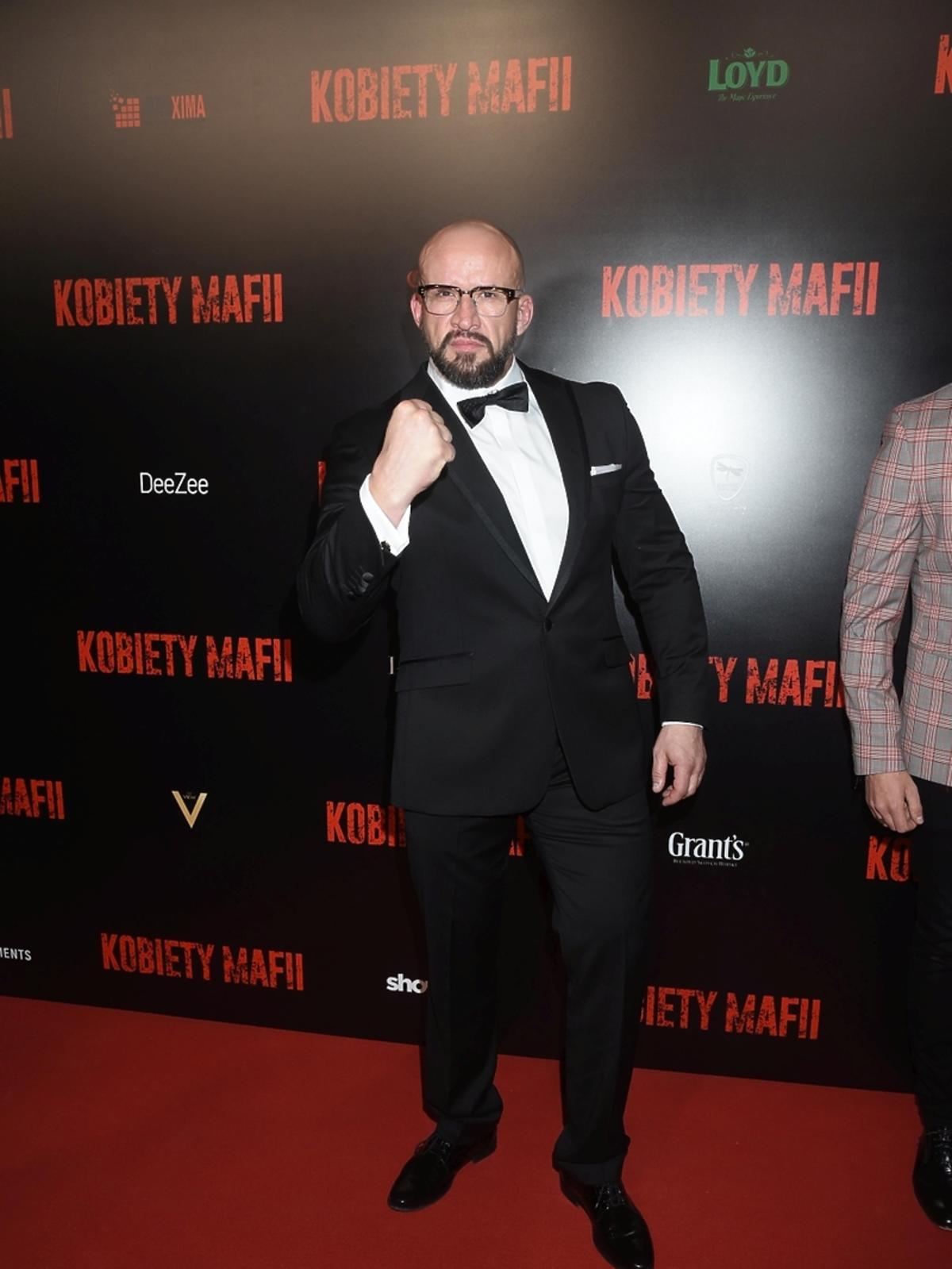 Tomasz Oświeciński na premierze filmu