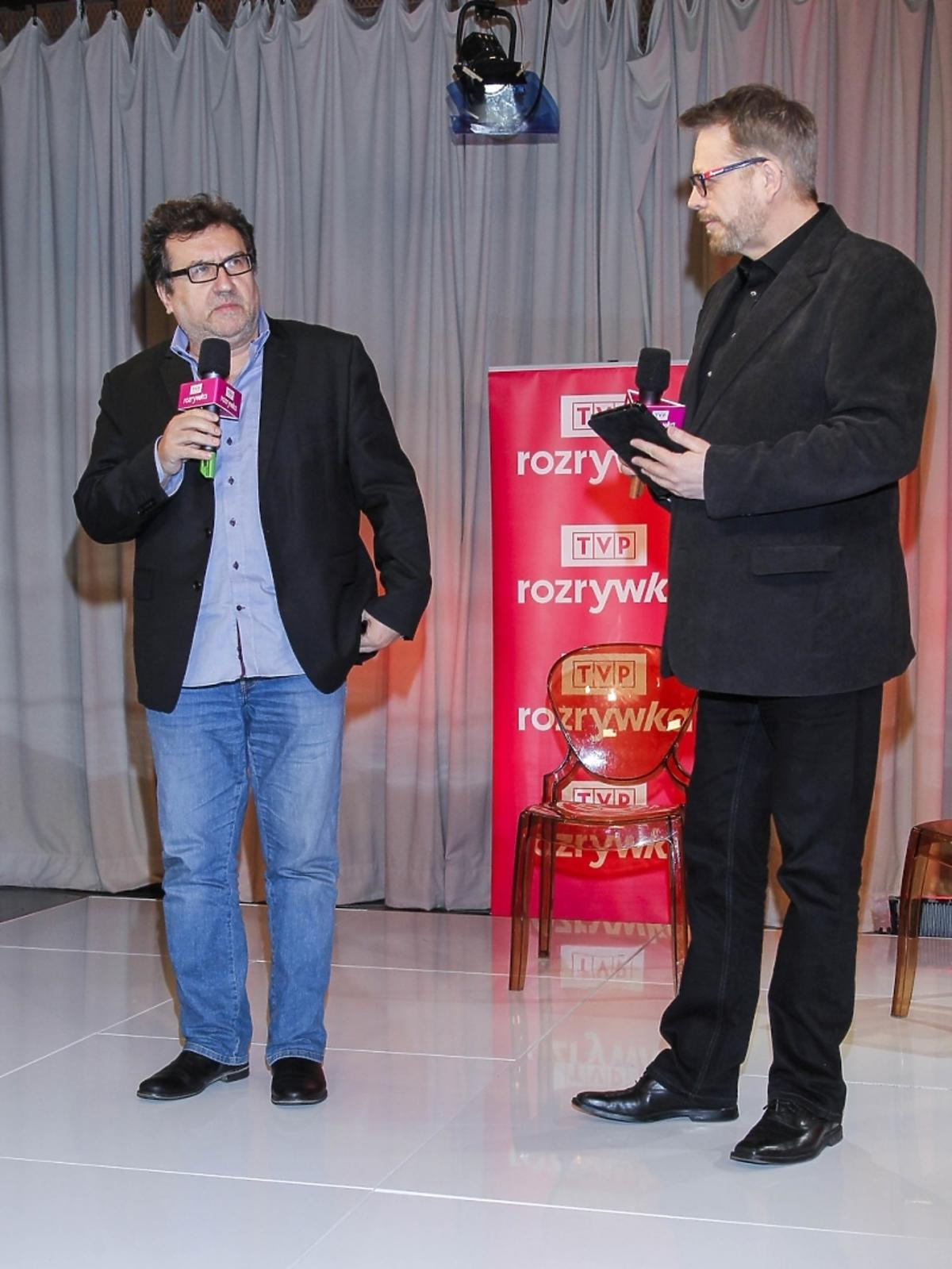 Tomasz Raczek i Jerzy Kapuściński na 2. urodzinach TVP Rozrywka
