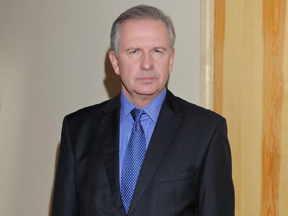 Tomasz Stockinger na planie serialu Klan