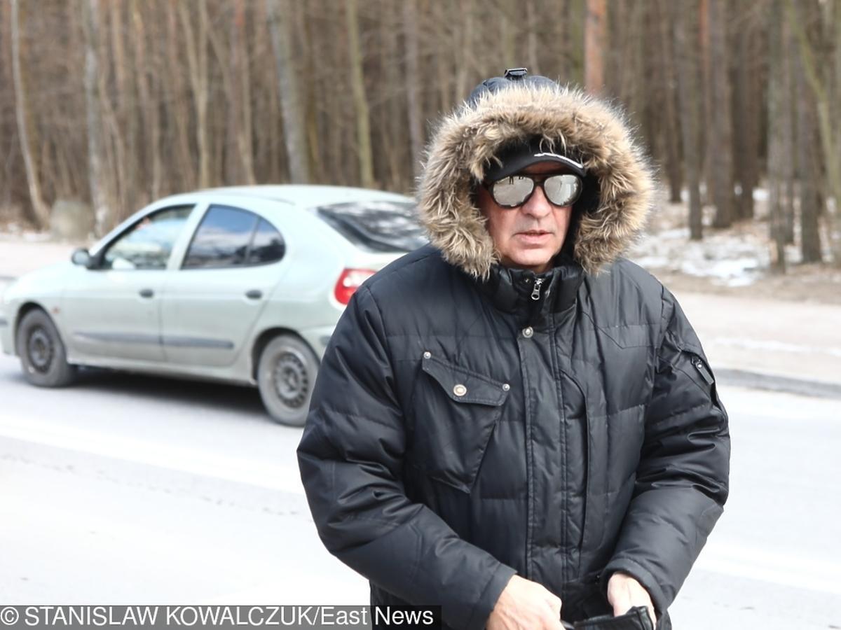 Tomasz Stockinger na pogrzebie Agnieszki Kotulanki
