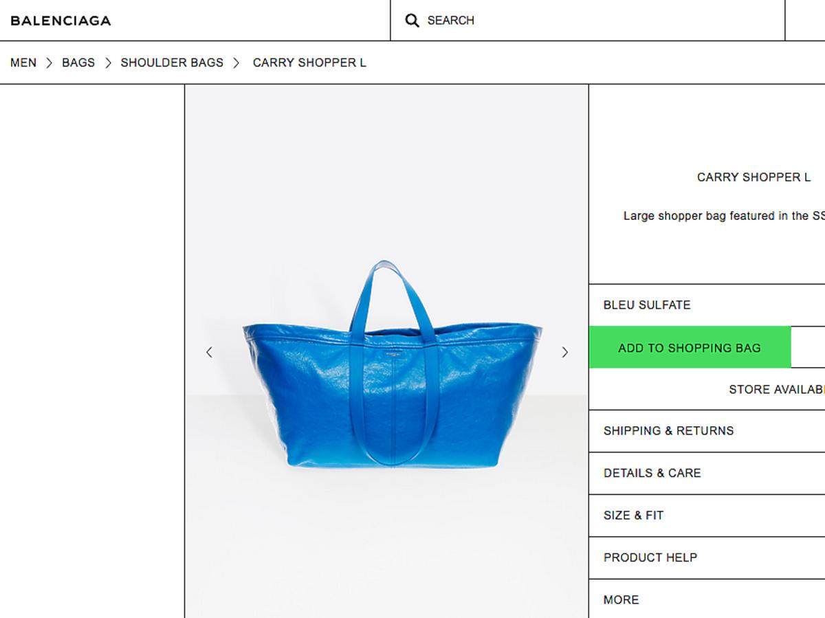 Torba Ikea od Balenciagi