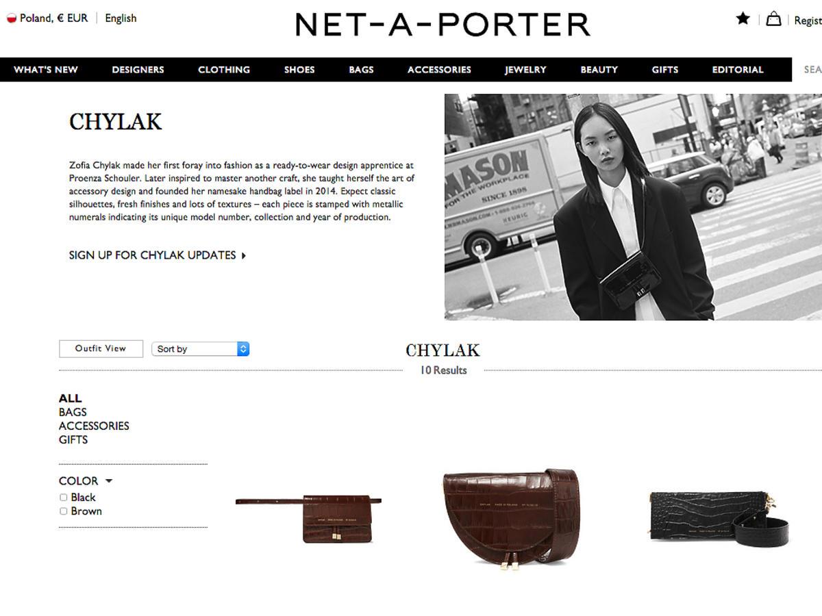Torby Zofii Chylak na Net-A-Porter