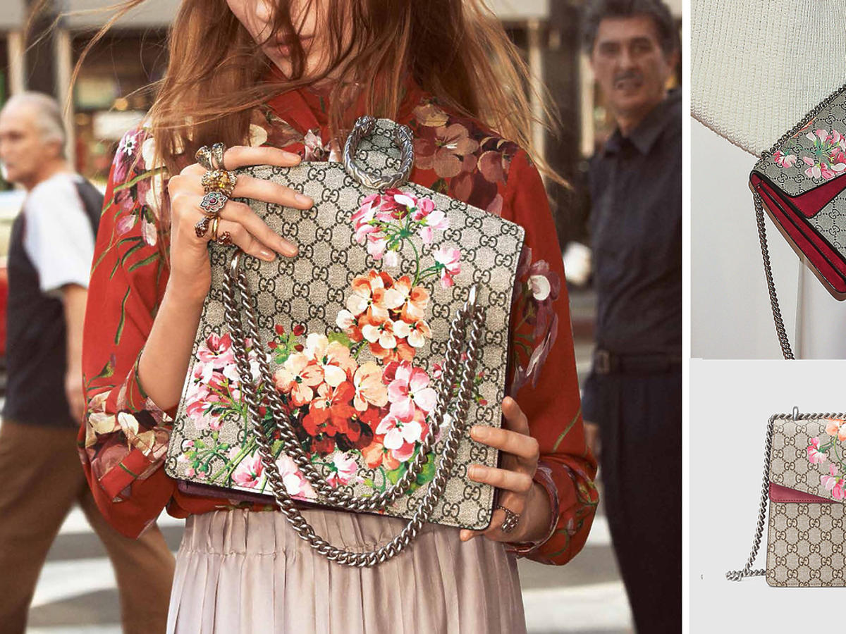 Torebka Dionysus Blooms Print Shoulder Bag z kwiatami