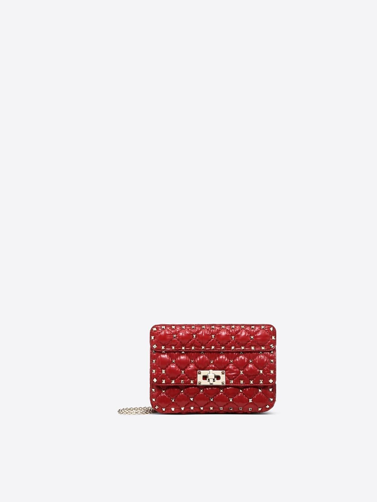 torebka pokowana czerwona Valentino dla Moncler