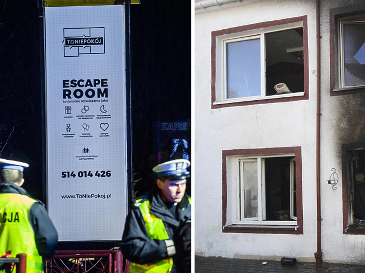 Tragedia w koszalinie, pożar w escape roomie