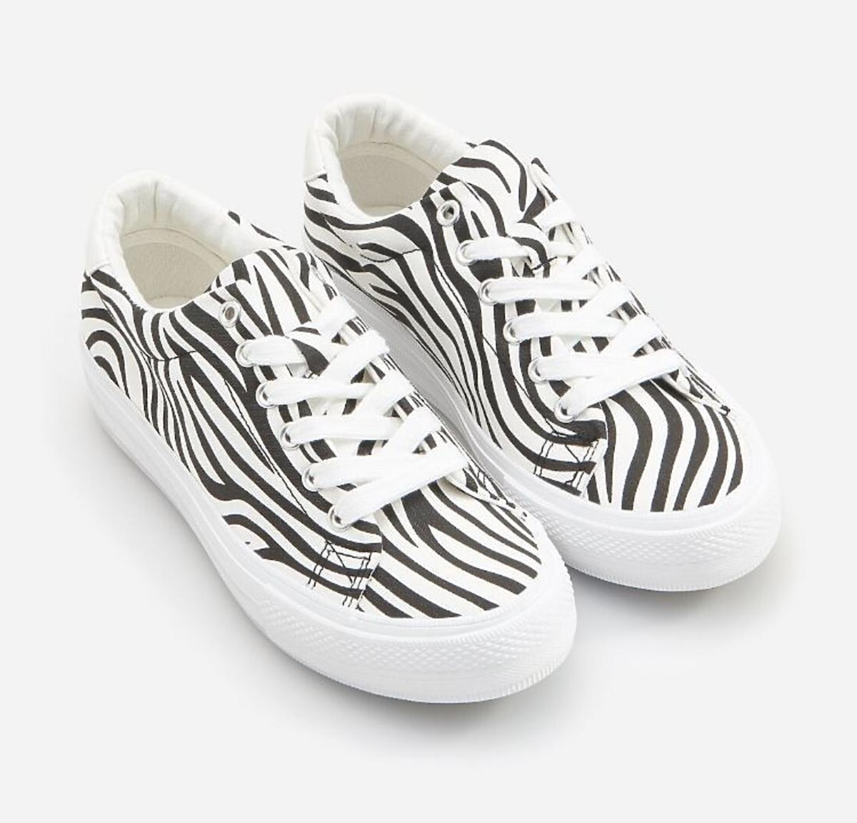 Trampki ze wzorem zebry Reserved