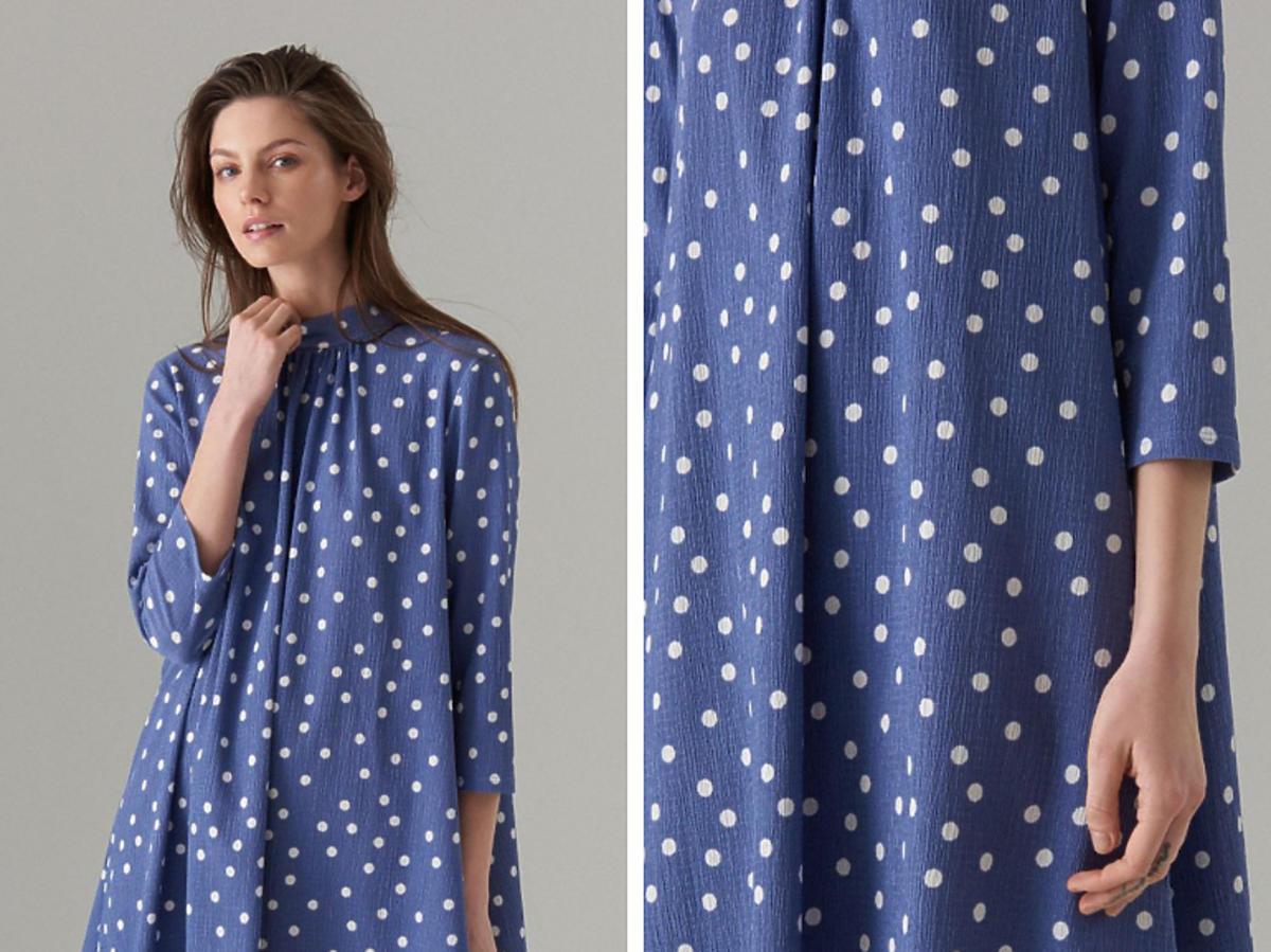 Trapezowa sukienka w grochy Mohito  cena 119 zł