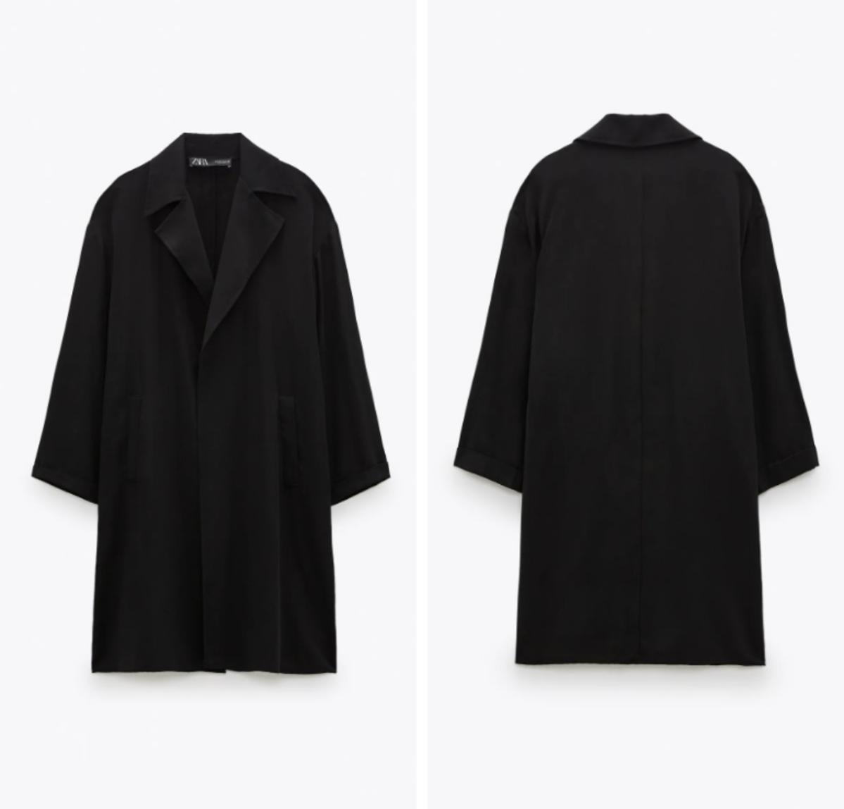 Trendy jesień 2020 Czarny płaszcz Zara 139 zł