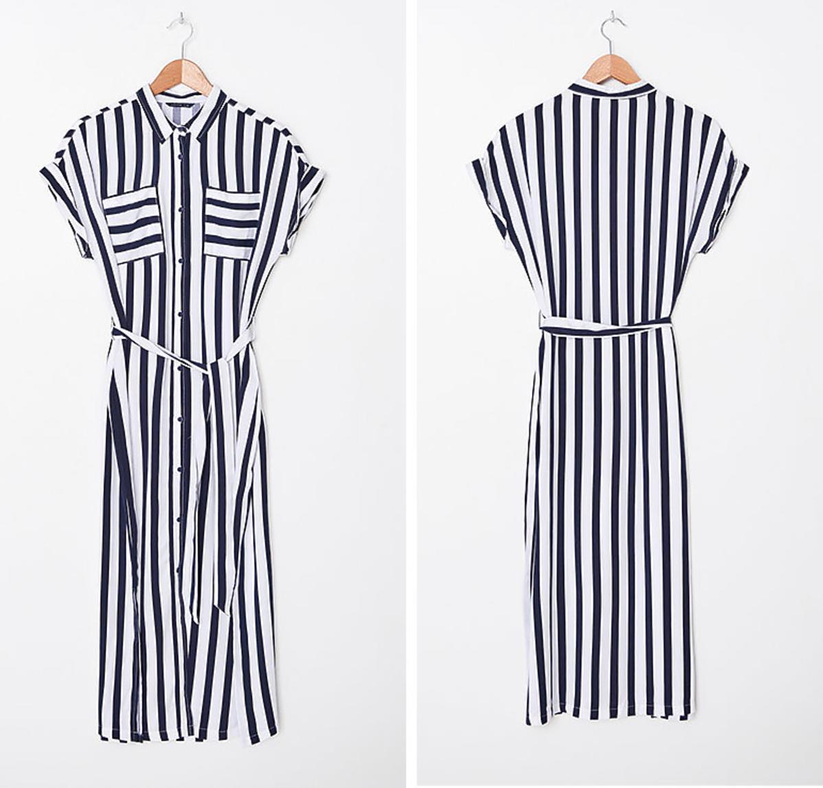 Trendy lato 2020: sukienka w paski z House