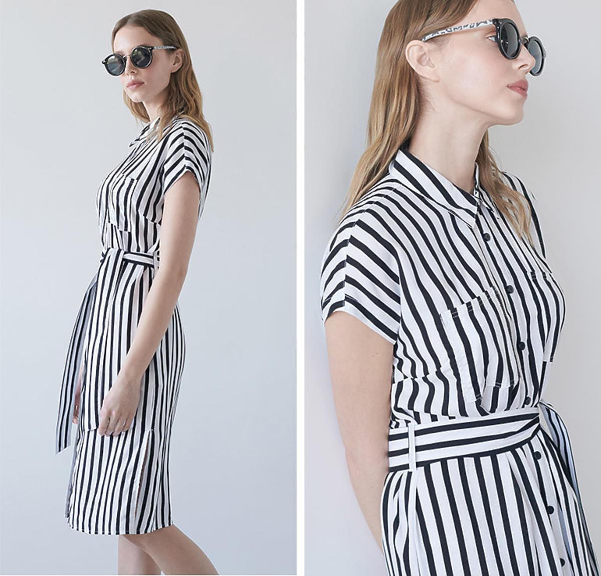 Trendy lato 2020: sukienka w paski z Sinsay