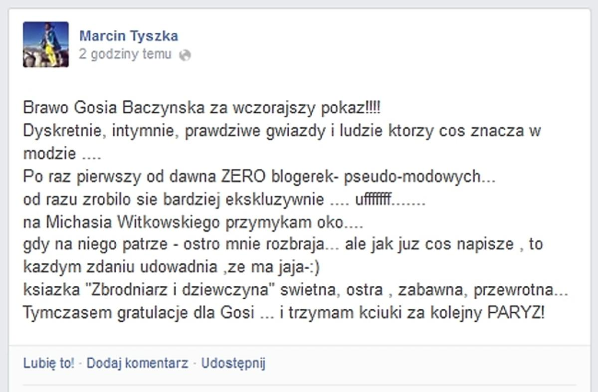 Tyszka o blogerkach