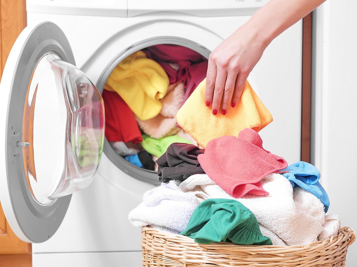 Ubrania wyprane w pralce