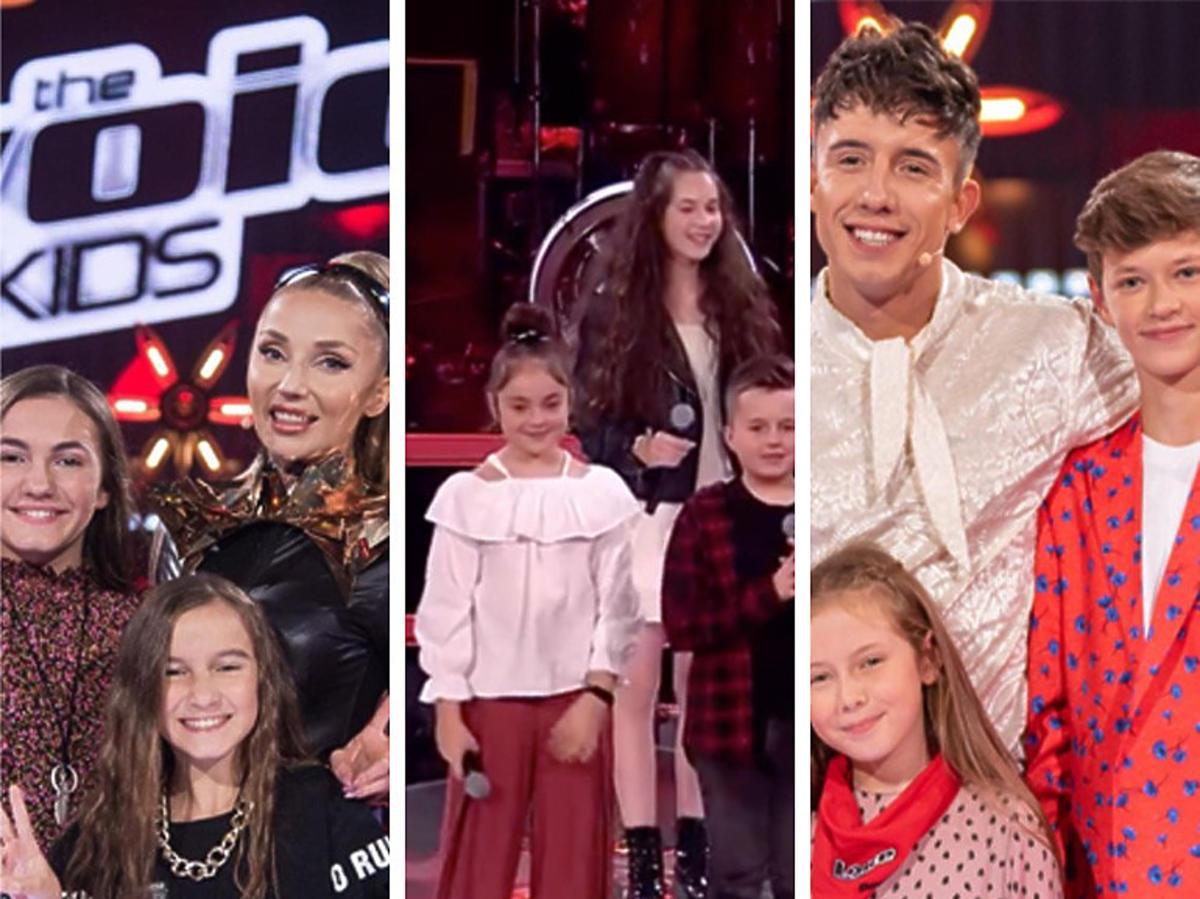 "Uczestnicy ""The Voice Kids"" z jurorami"