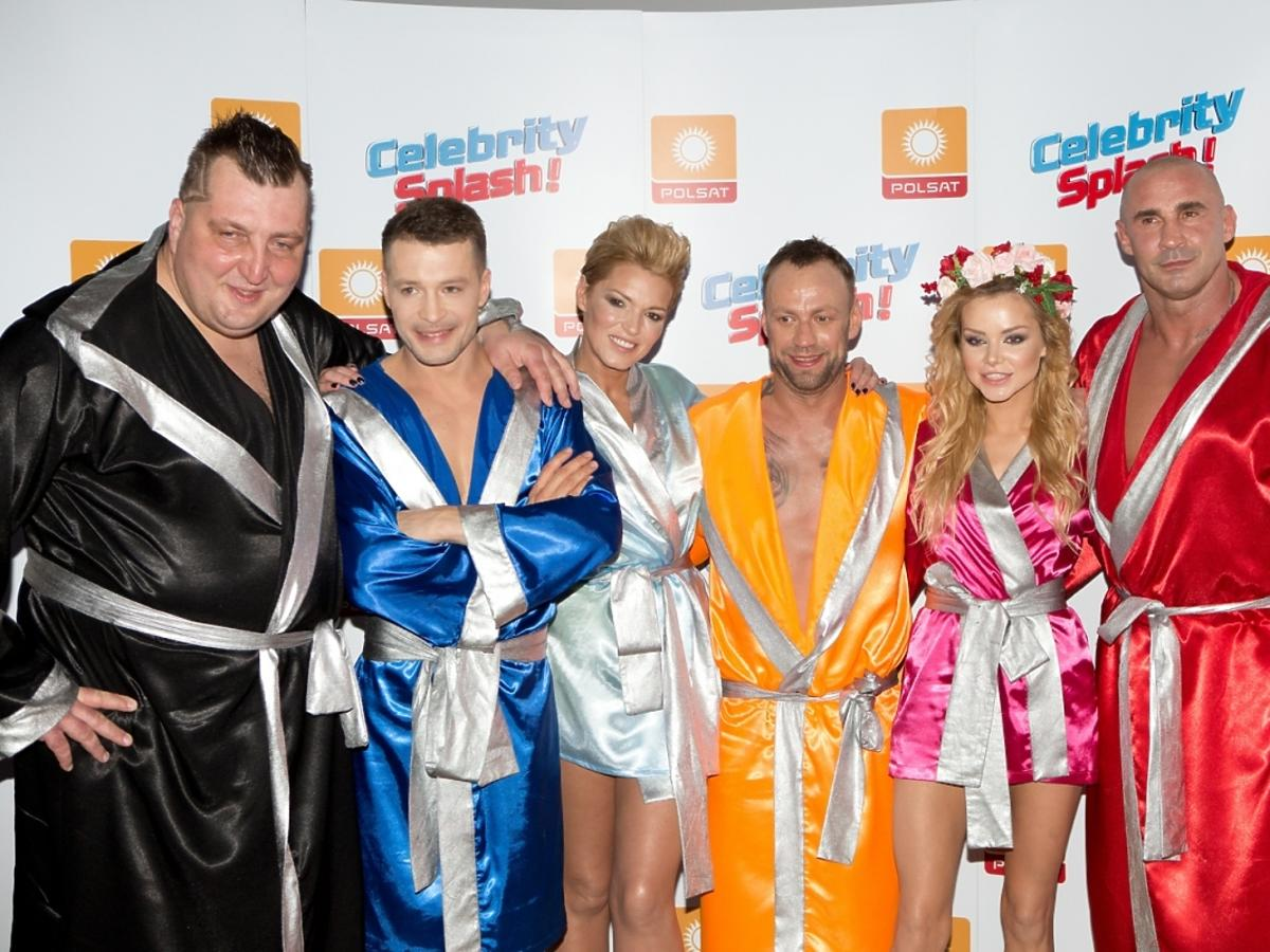 Uczestnicy w pierwszym odcinku Celebrity Splash