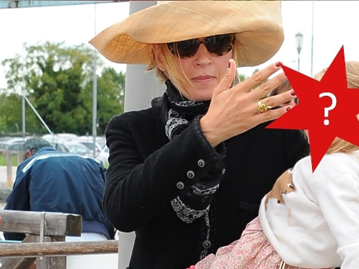 Uma Thurman z córką w Wenecji