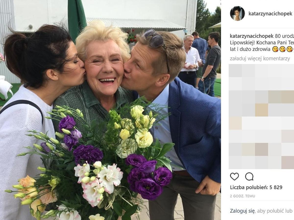 Urodziny Teresy Lipowskiej na planie