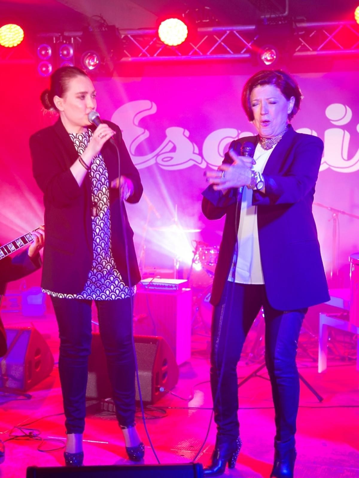 Urszula Dudziak i Mika Urbaniak na imprezie magazynu Esquire