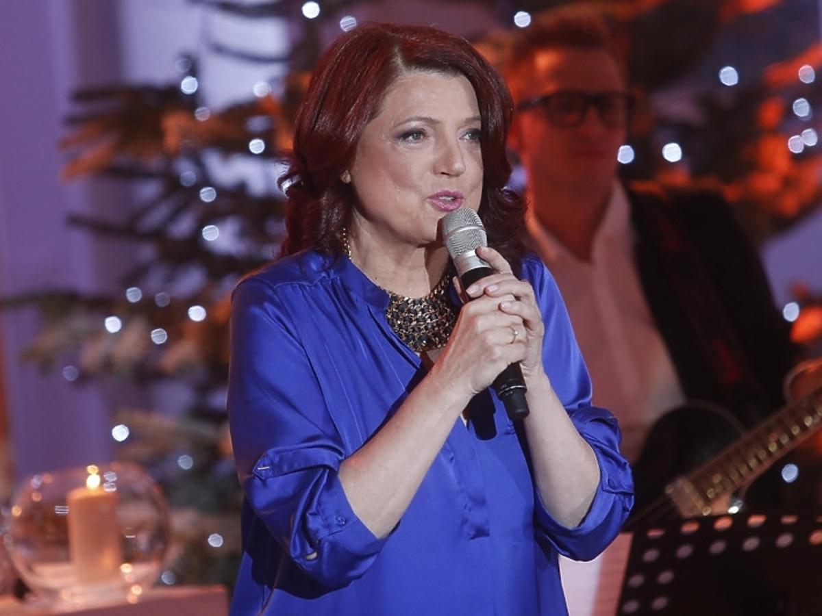 Urszula Dudziak podczas świątecznego koncertu w Pałacu Prezydenckim