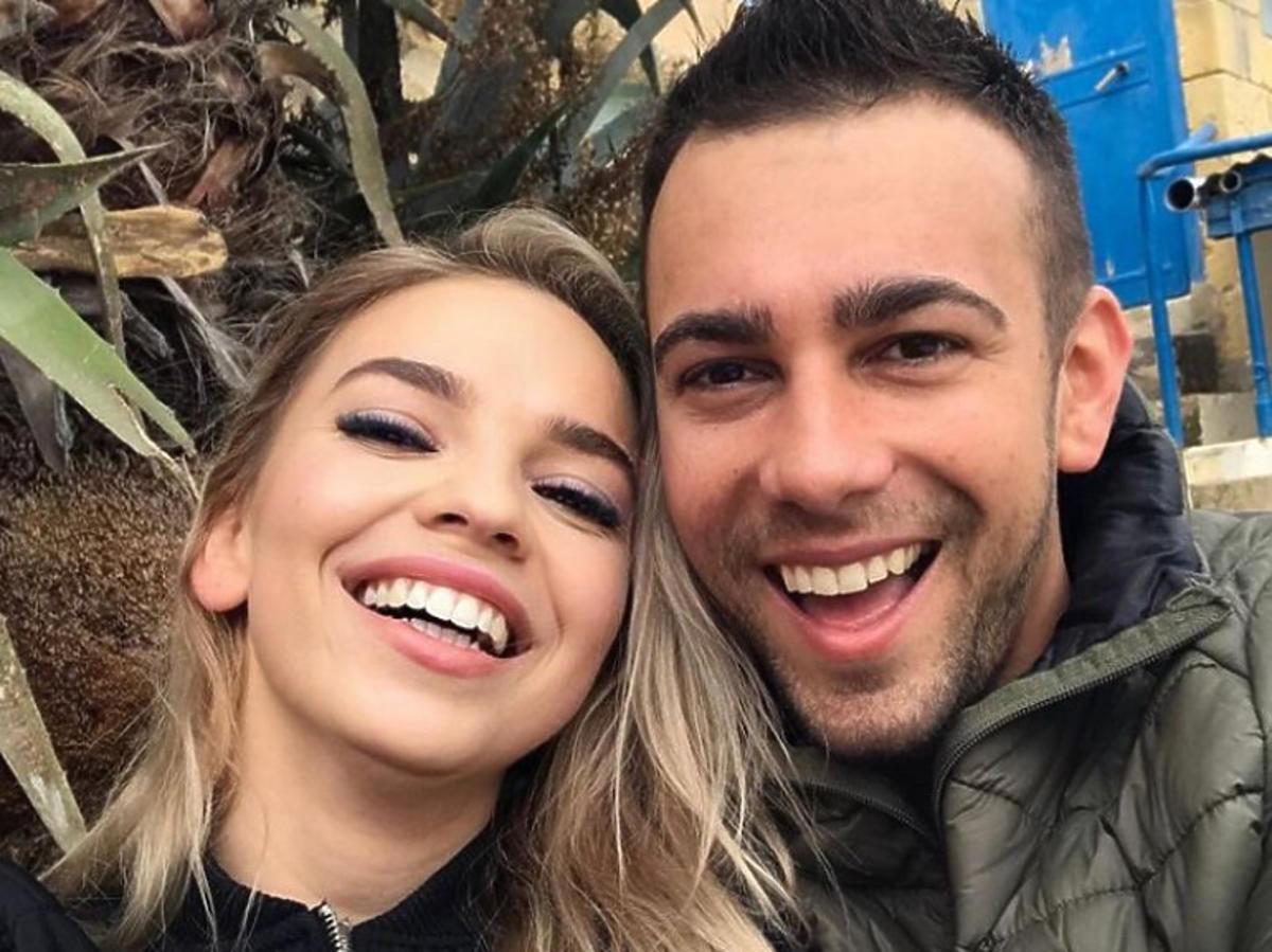 Uśmiechnięci Oliwia i Łukasz ze Ślubu od pierwszego wejrzenia