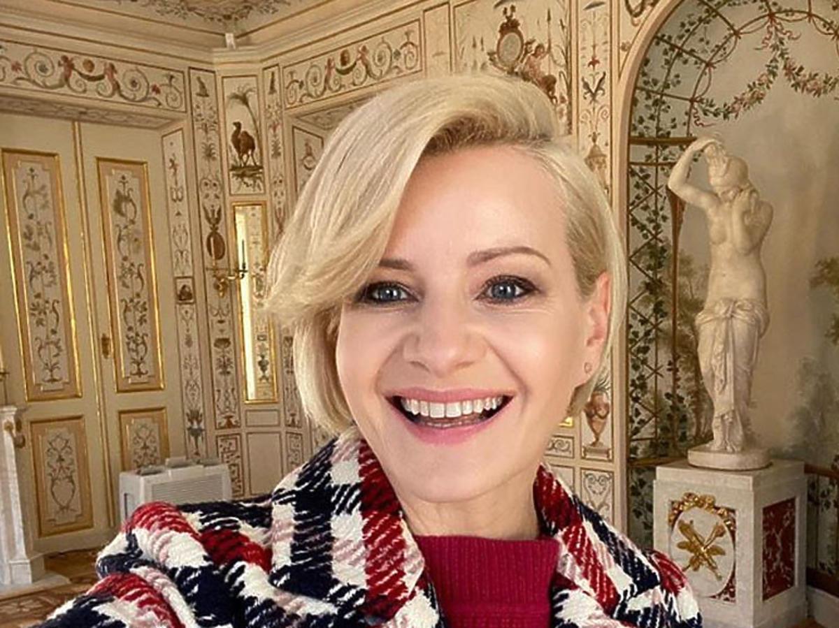 Uśmiechnięta Małgorzata Kożuchowska