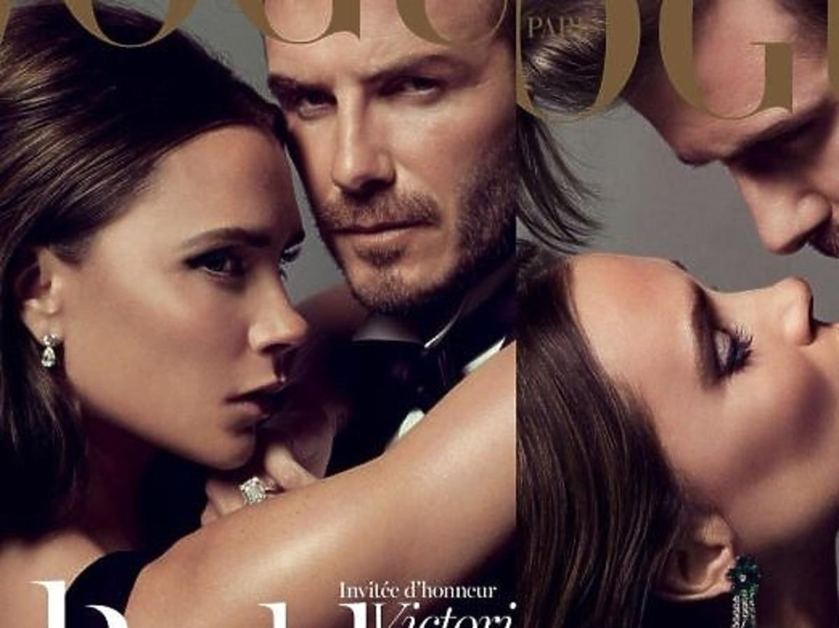 Victoria i David Beckham na okładkach Vogue Paris