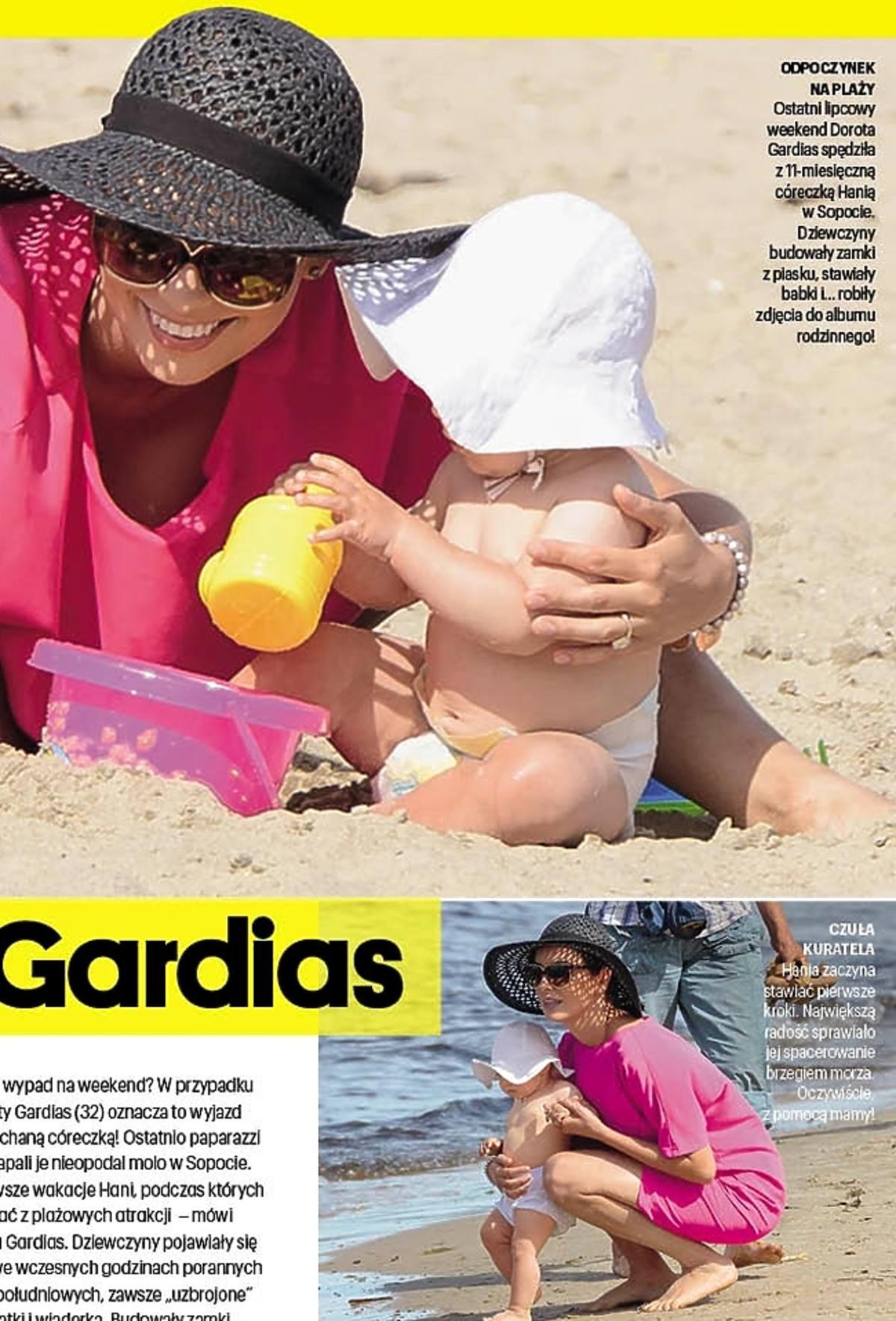 Wakacje Doroty Gardias z córką