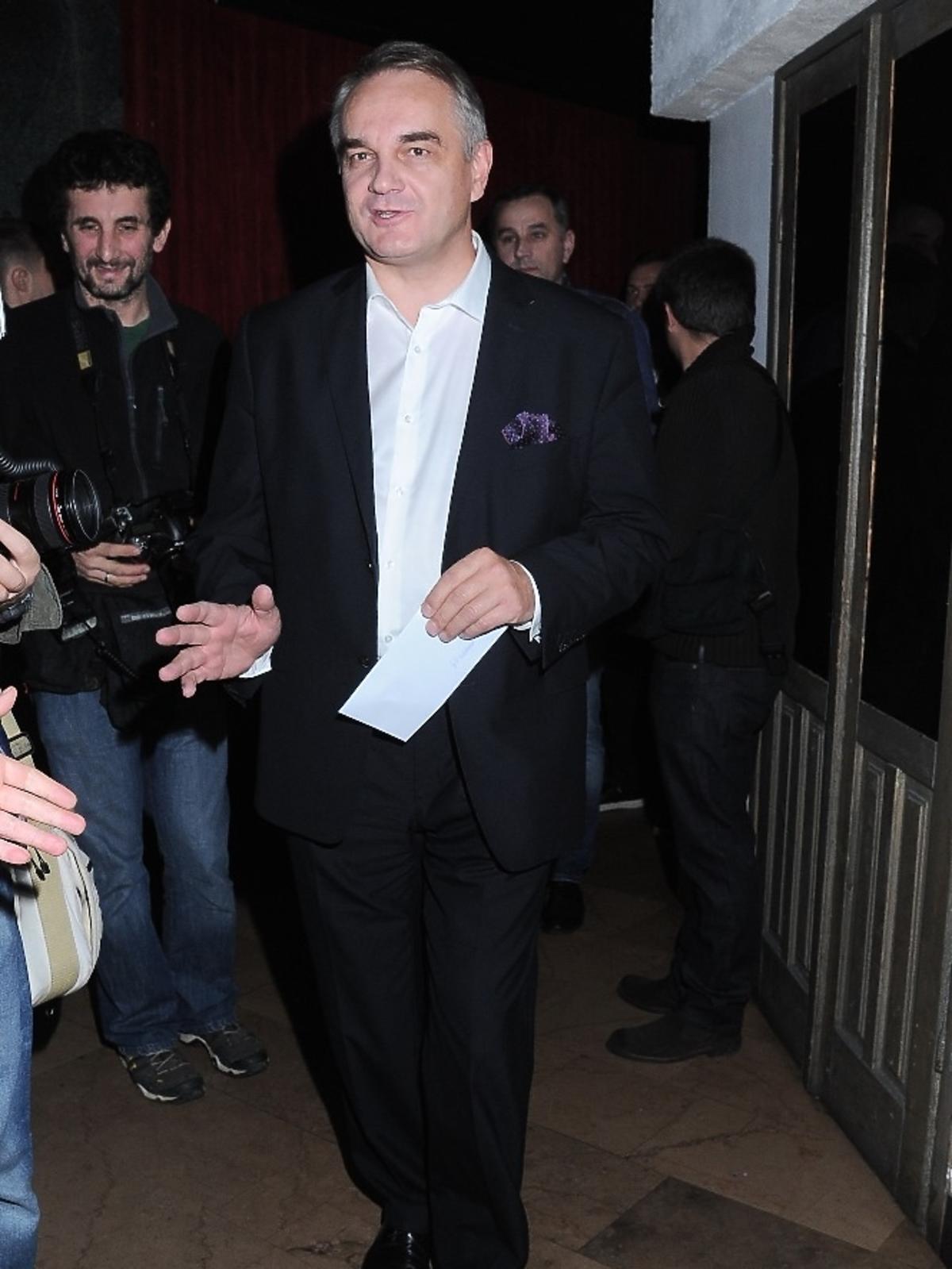 Waldemar Pawlak na premierze spektaklu