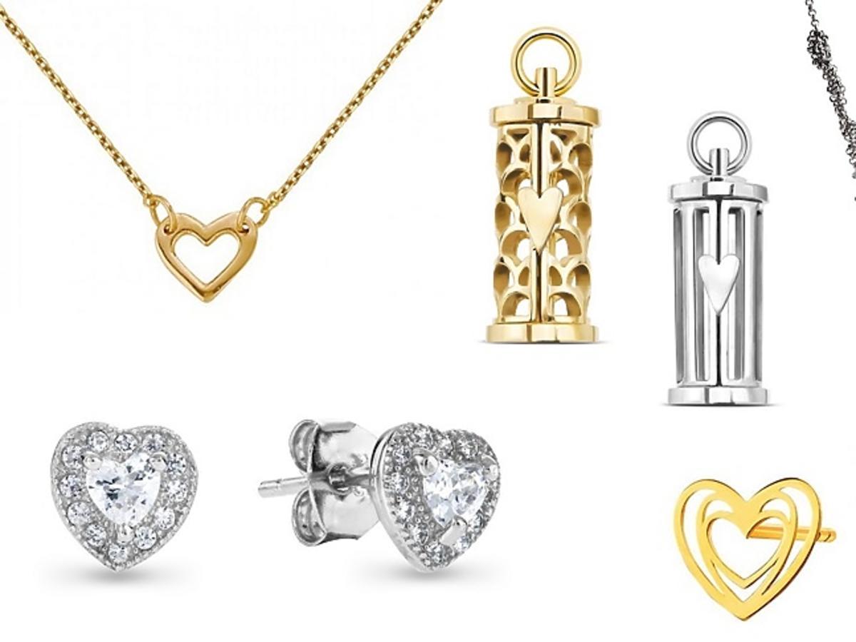 Walentynkowa biżuteria z serduszkami