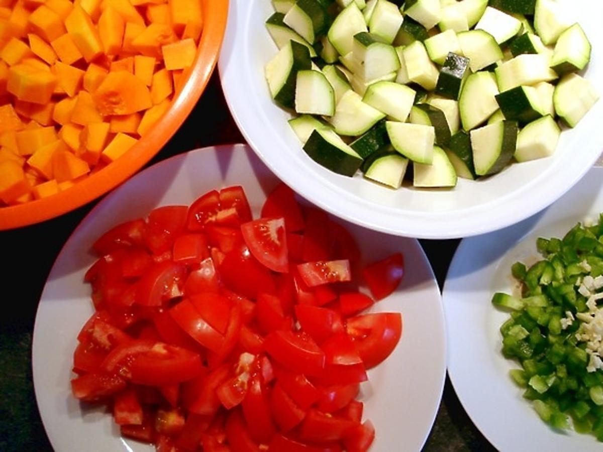 warzywa pokrojone w kostkę
