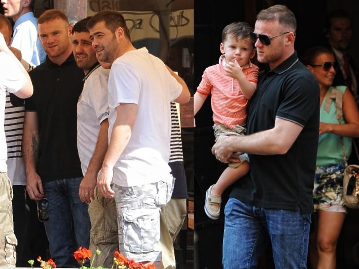 Wayne Rooney z żoną i dziećmi w Krakowie