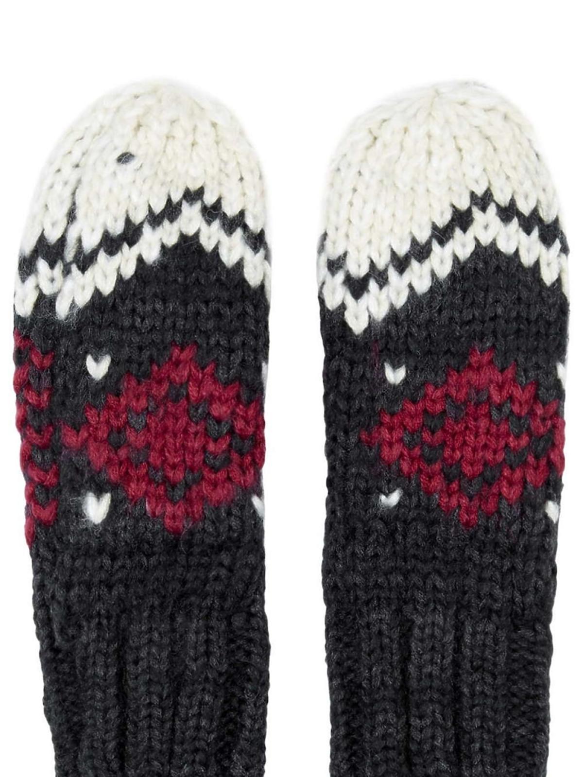 wełniane rękawiczki we wzory