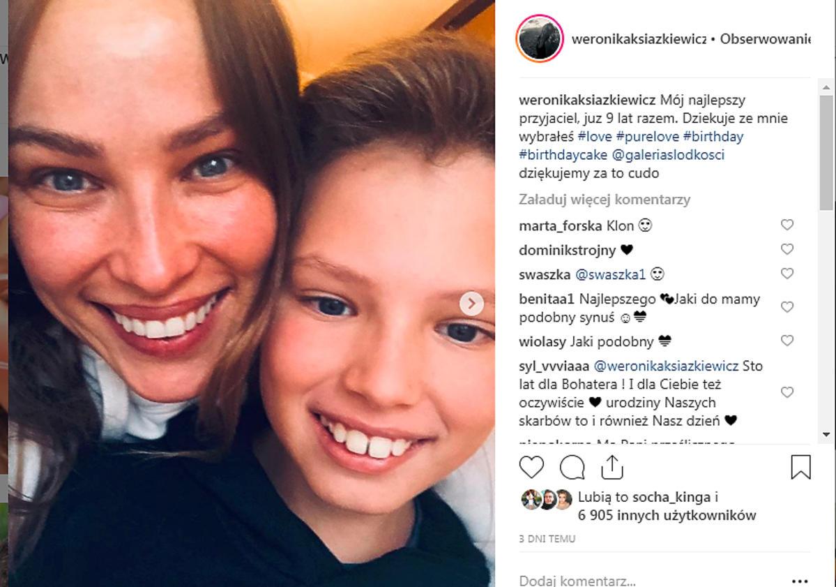 Weronika Książkiewicz pokazała syna
