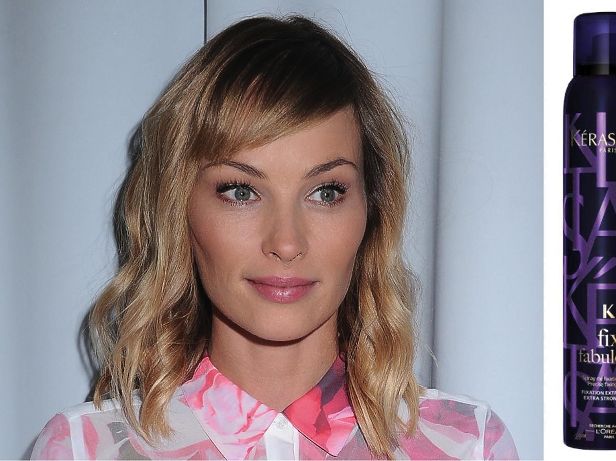 Weronika Książkiewicz w lokach i różowej bluzce