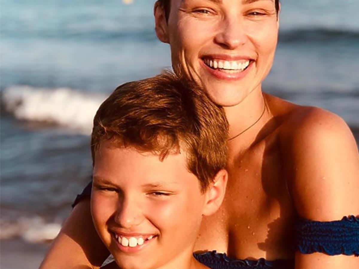 Weronika Książkiewicz z synem