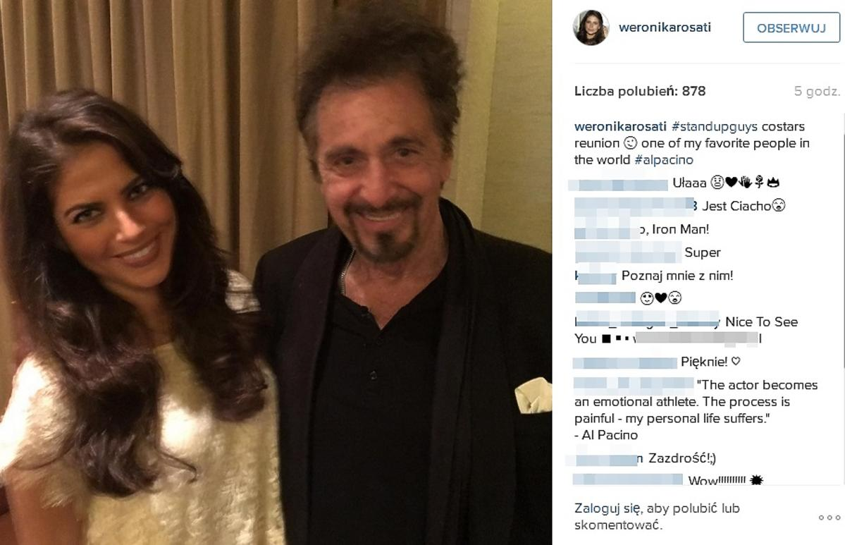 Weronika Rosati, Al Pacino
