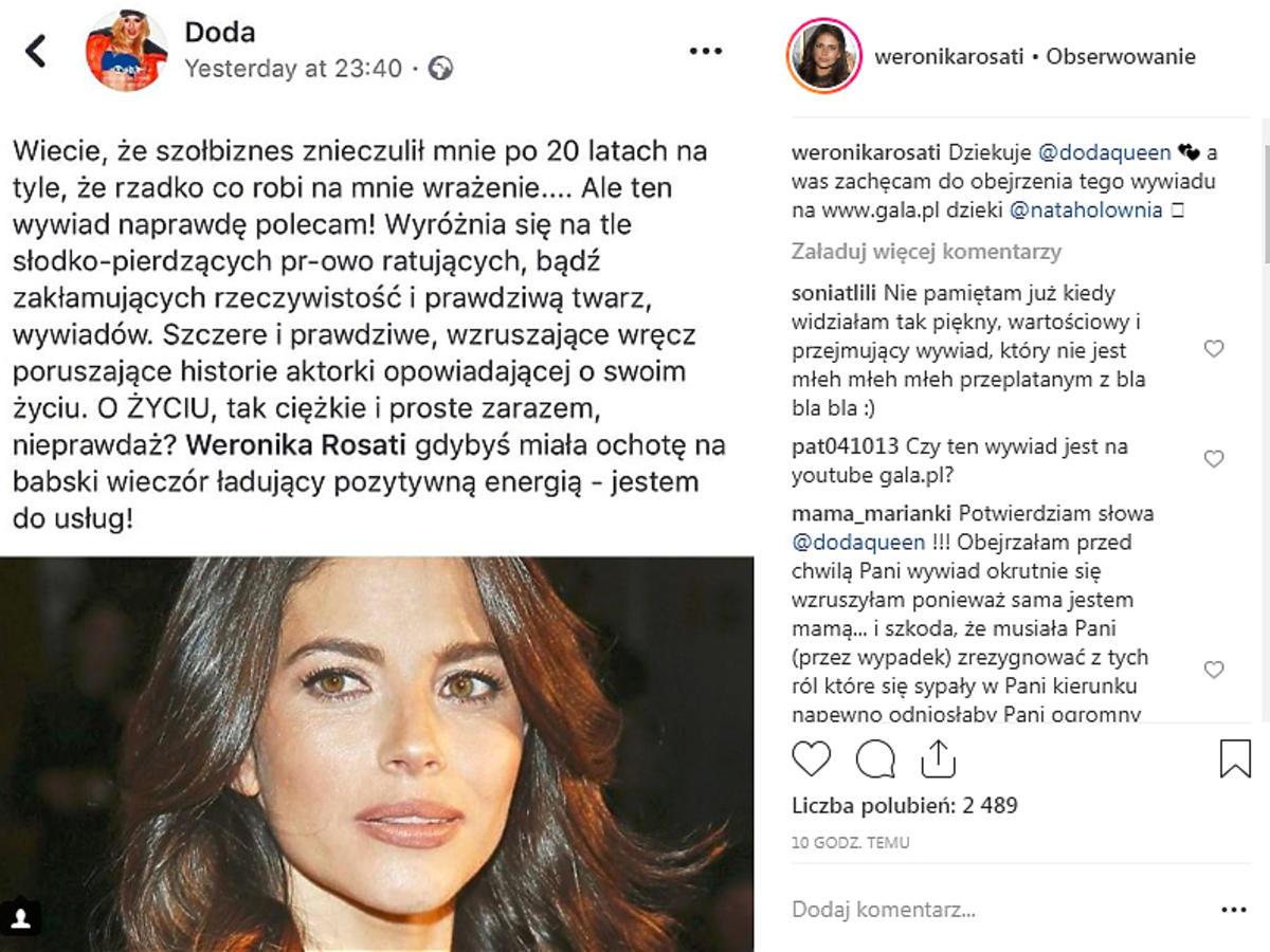 Weronika Rosati o rozstaniu z Robertem Śmigielskim