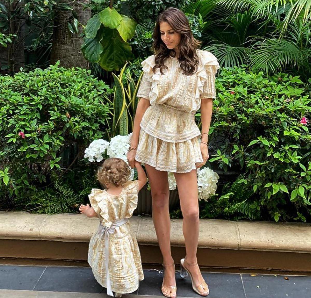 Weronika Rosati z córką Elisabeth
