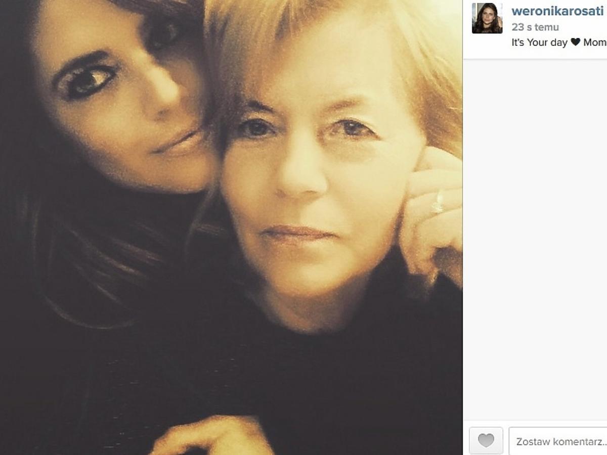 Weronika Rosati złożyła życzenia swojej mamie