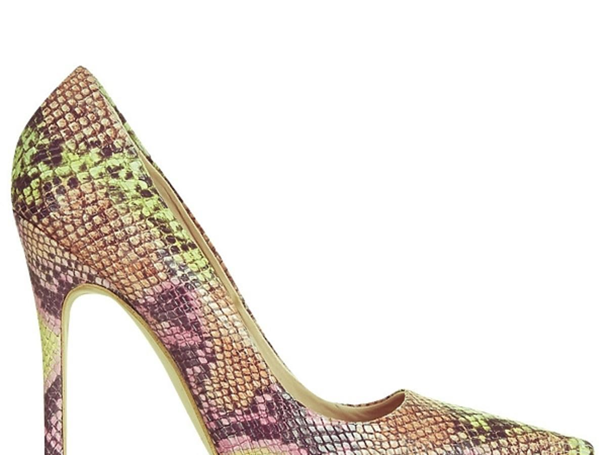 Wężowe szpilki Topshop, cena