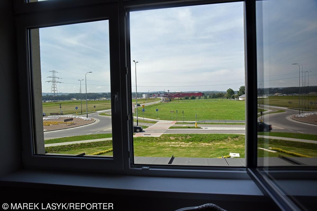 widok z okna papieża Franciszka