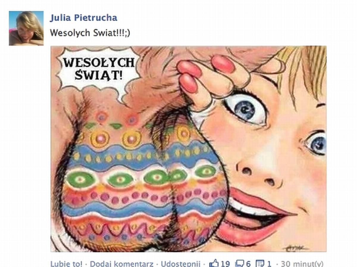 Wielkanocne życzenia od Julii Pietruchy