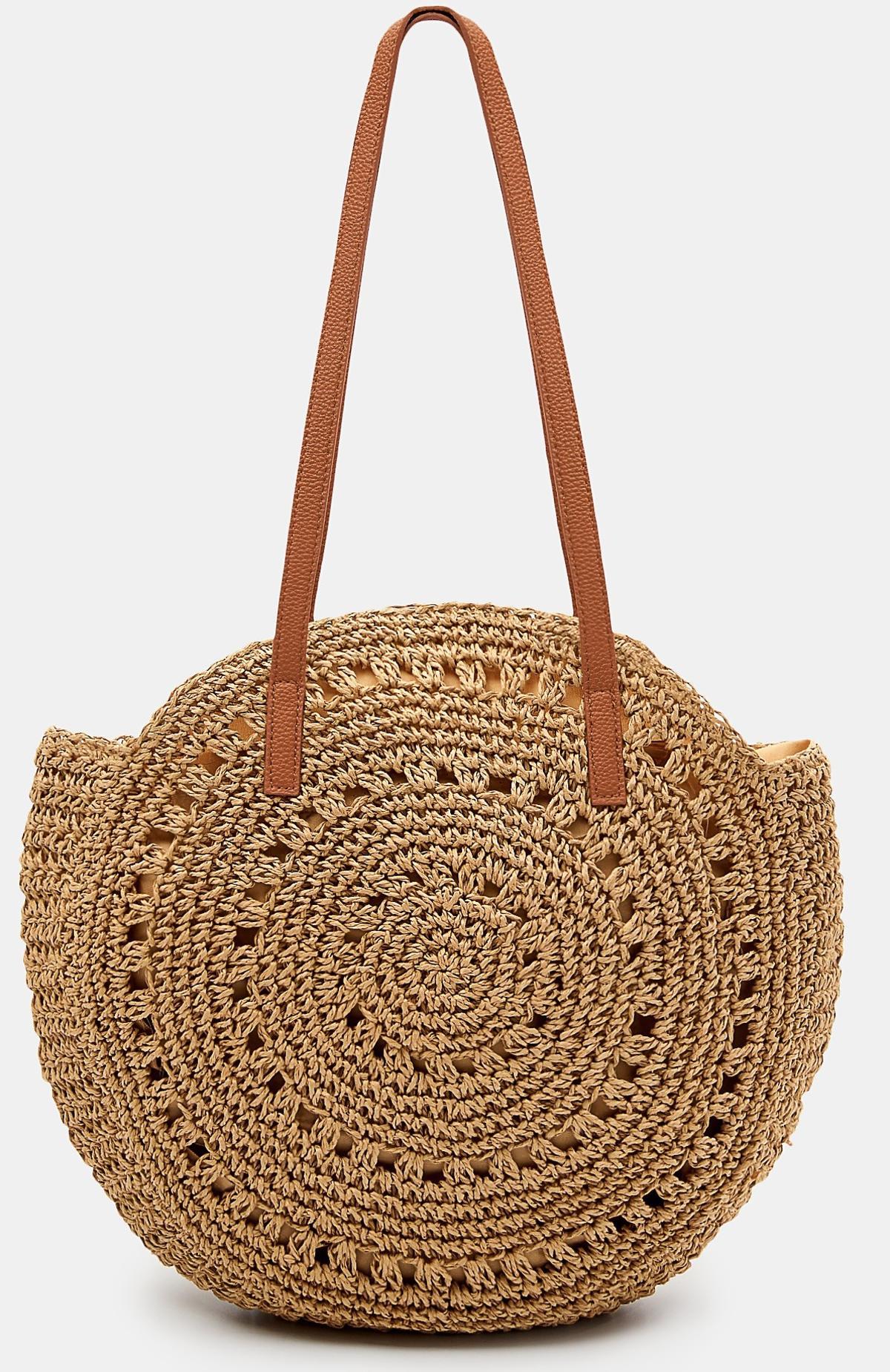 Wiklinowa torebka w kształcie koła Mohito