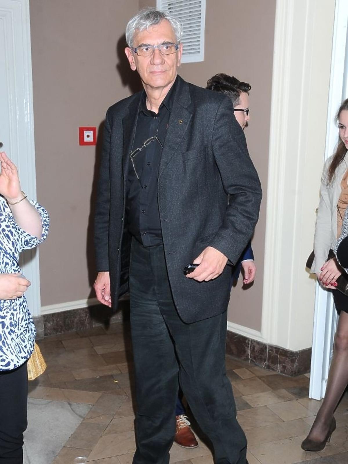 Wiktor Zborowski na premierze spektaklu Zwariowana terapia