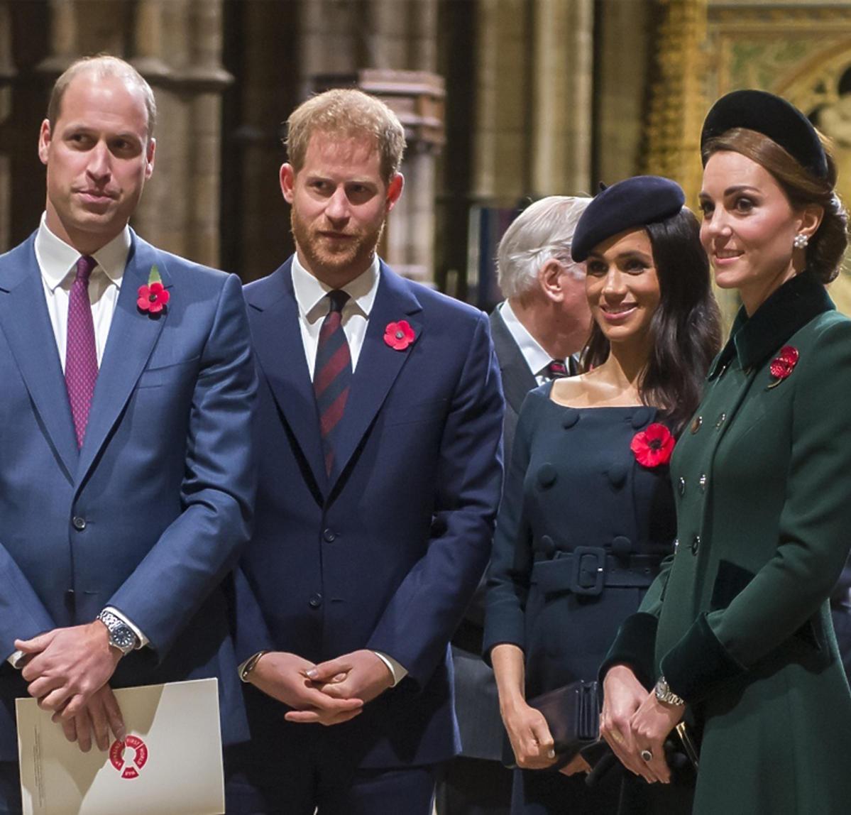 William i Kate, Meghan i Harry w kościele w Londynie