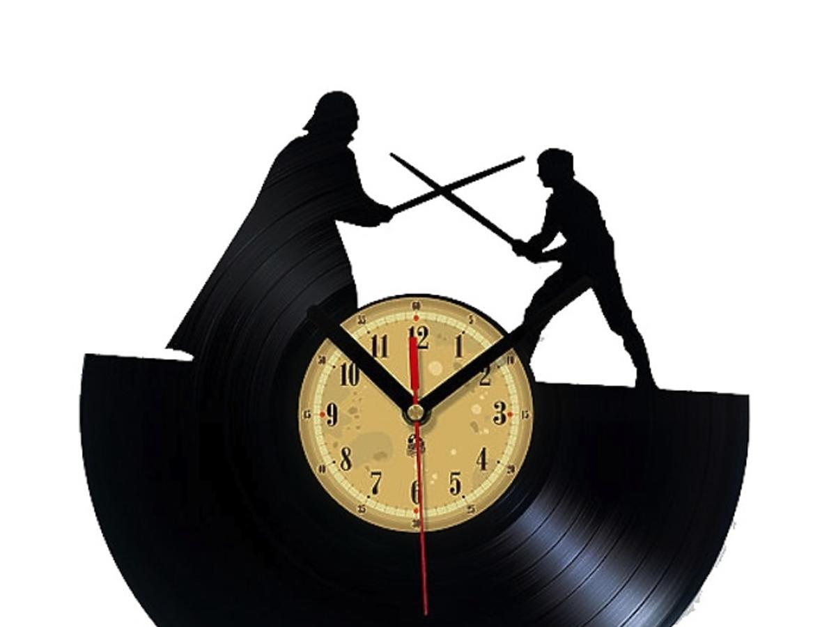 Winylowy zegar z wojownikami Star Wars