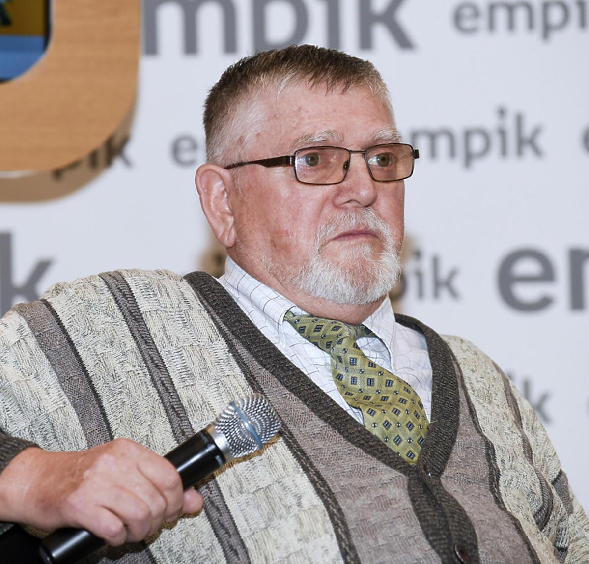 Witold Mackiewicz na premierze książki